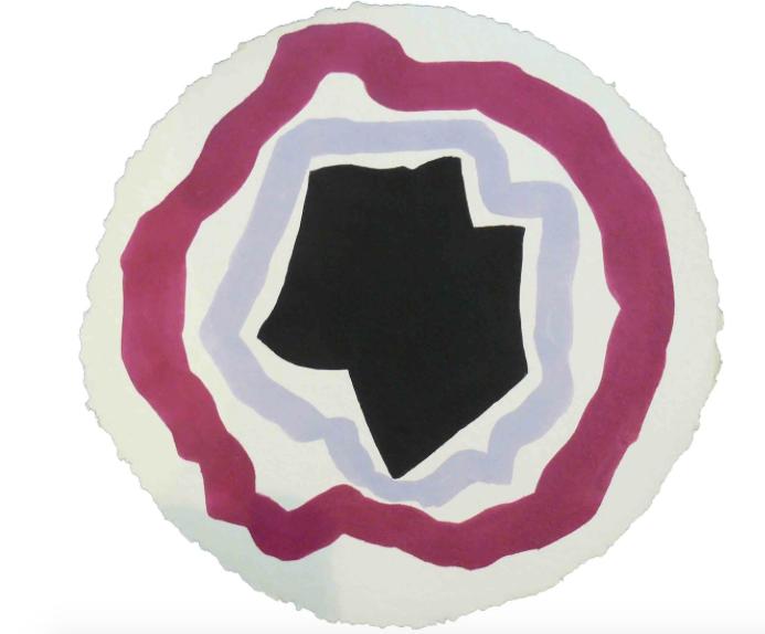 Lumina II , 2010, acrylic on handmade paper, 52 cm (diameter)
