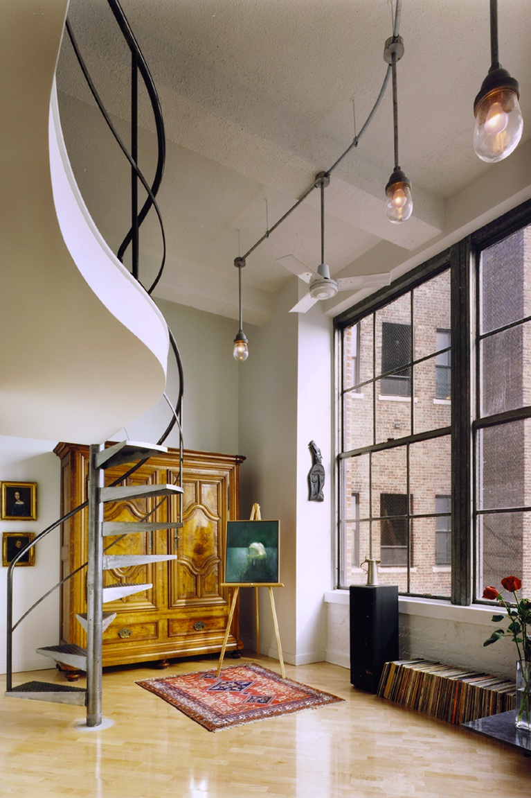 Loci Celebrates 20 Years - September 28, 2018Loci is celebrating its 20th year and will be posting past projects over the next few months as we prepare for a celebration. One of our early design successes in 1998 was this loft for two scientists located in a former industrial building in Greenwich Village.