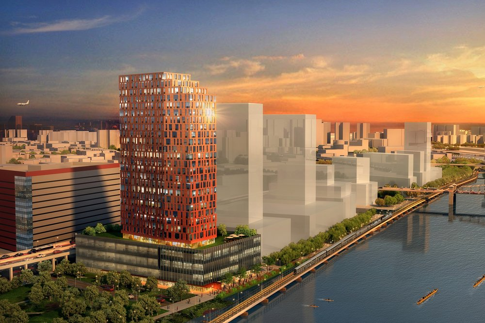 Loci Proposes Development on the Harlem River Waterfront District - July 2017Loci proposes a 28-story mixed-use development as the first project of a Lower Grand Concourse Master Plan in the Special Harlem River Waterfront District in the Bronx.