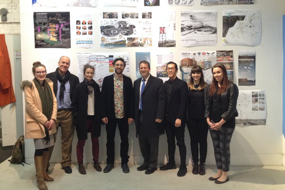 Gowanus By Design Opens Competition Exhibit - February 2016Gowanus by Design opens its exhibit for the Axis Civitas competition at Site:Brooklyn, a gallery in the Gowanus arts district.