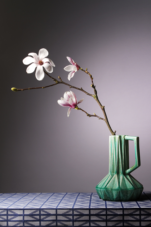 Magnolia in groene vaas II