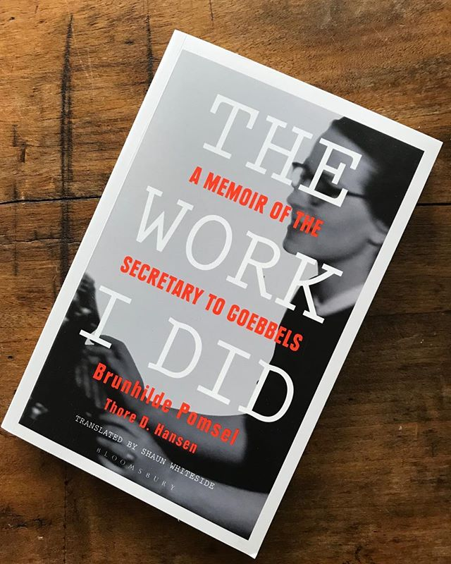 The Work I Did - A memoir of the secretary to Goebbels, Brunhilde Pomsel. An astonishingly prescient warning for our time with 50 page postscript analysing the similarities between now and 1930s Germany and the 'it will never happen here' voices of 'sensible' Germans as National Socialism started to rear its ugly head and then seemingly out of nowhere Hitler was in power. A chilling reminder that 'it'll never happen here' is all too often an excuse to do nothing. The embryo of 'it' is happening right now. And we must remember Friedrich Hegel's immortal words: 'we learn from history that we do not learn from history' ...