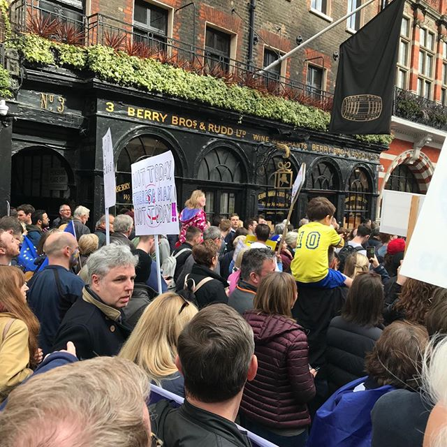 Berry Brothers but not as we usually see it. Marching to keep the wine flowing (amongst other things...) #revokearticle50 @berrybrothers