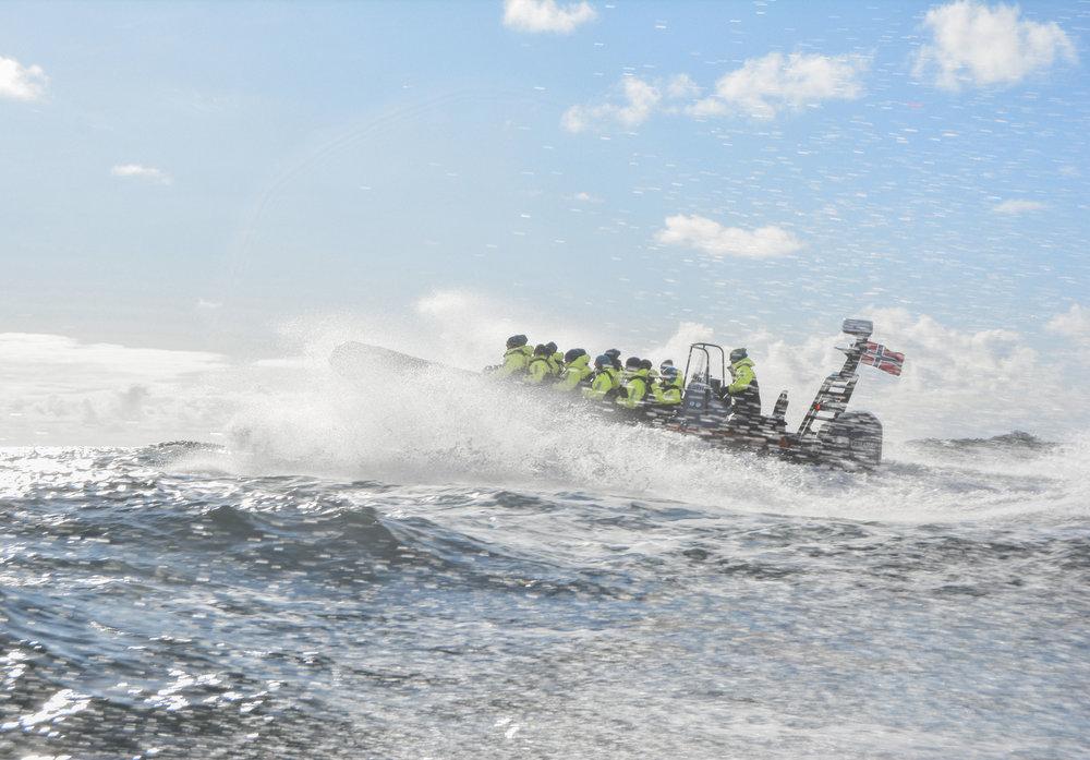 RIB tur på Helgelandskysten er en populær aktivitet