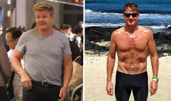 Gordon Ramsay weight loss: Gordon once weighed in at 270 pounds (Image: Getty Images/Instagram @gordongram)