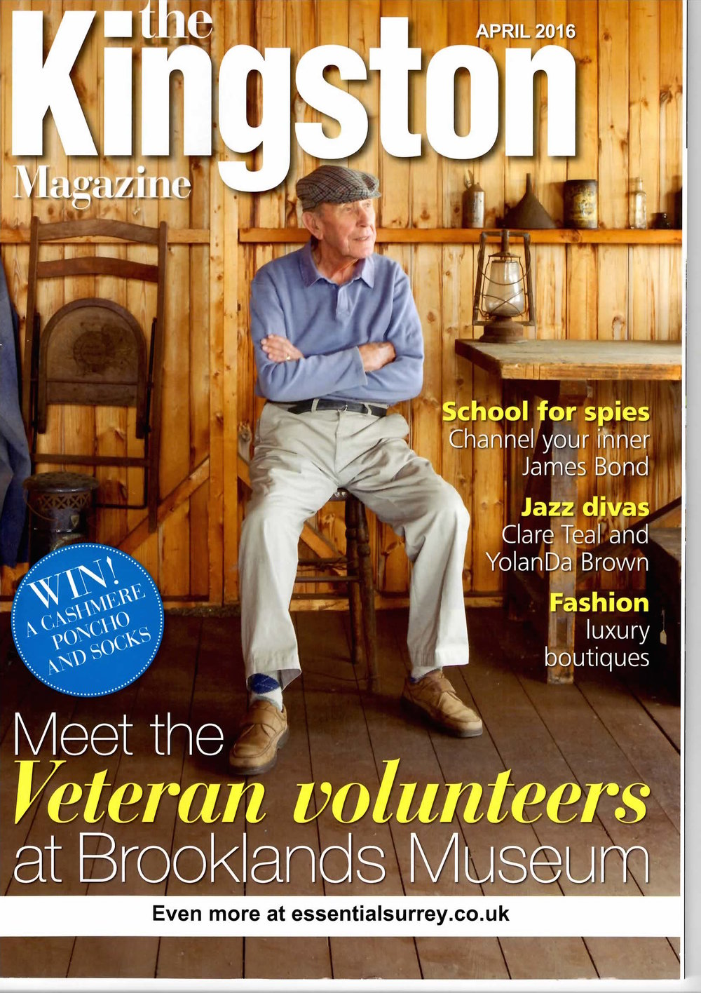 Volunteer on the front cover of The Kingston magazine