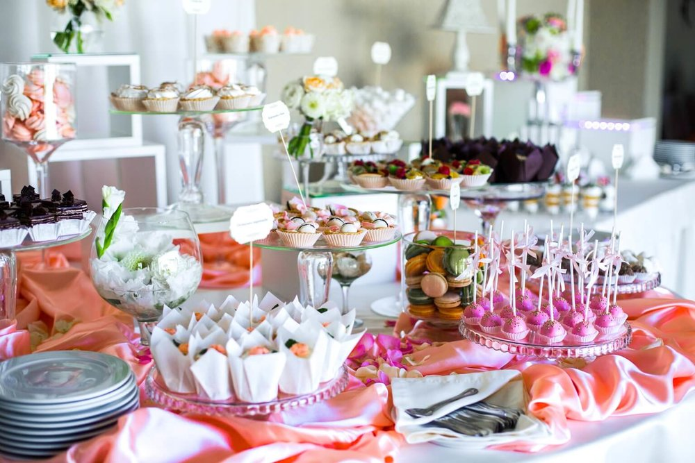 Delicate Setups - Food and dessert arrangements done to perfection.