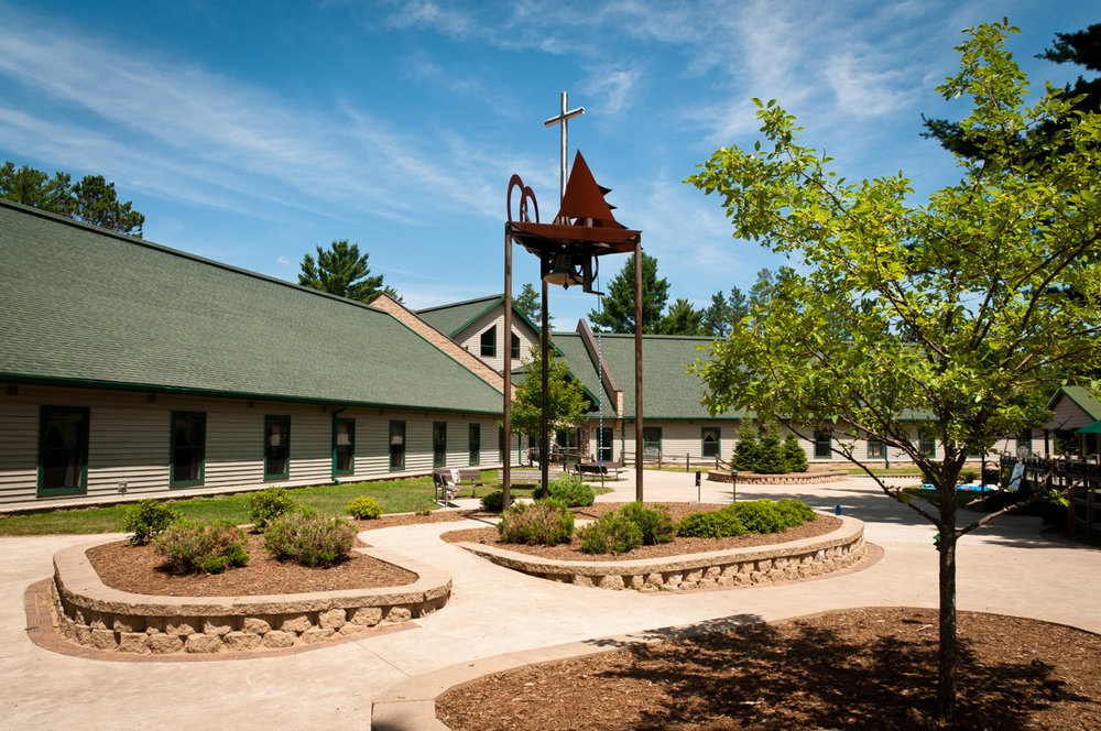Retreat Center - - Dormitory style housing- Each room consists of one bunk-bed and two single beds- Shared bathrooms and shower facilities