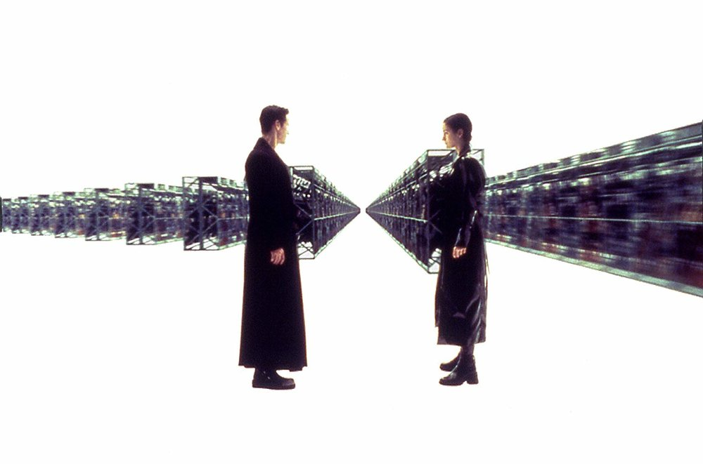 The Matrix  (Warner Bros. Entertainment 1999) is the quintessential film featuring a simulacrum