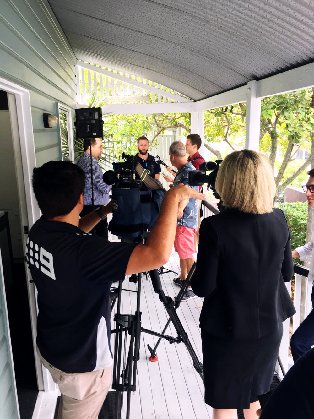 Behind the scenes of the nbn press conference