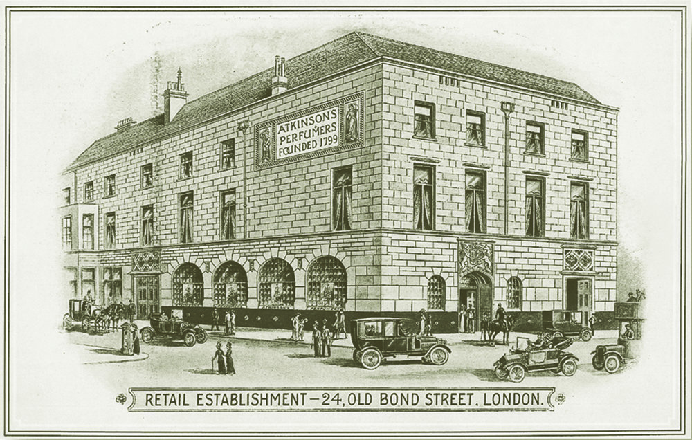 Atkinsons 1799 Burlington Arcade - Archive drawing of Old Bond St