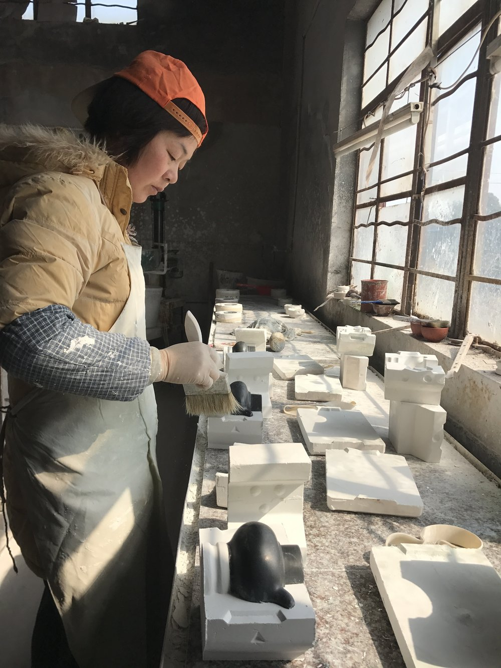 Yixing Ceramics - Photograph of ceramic moulding