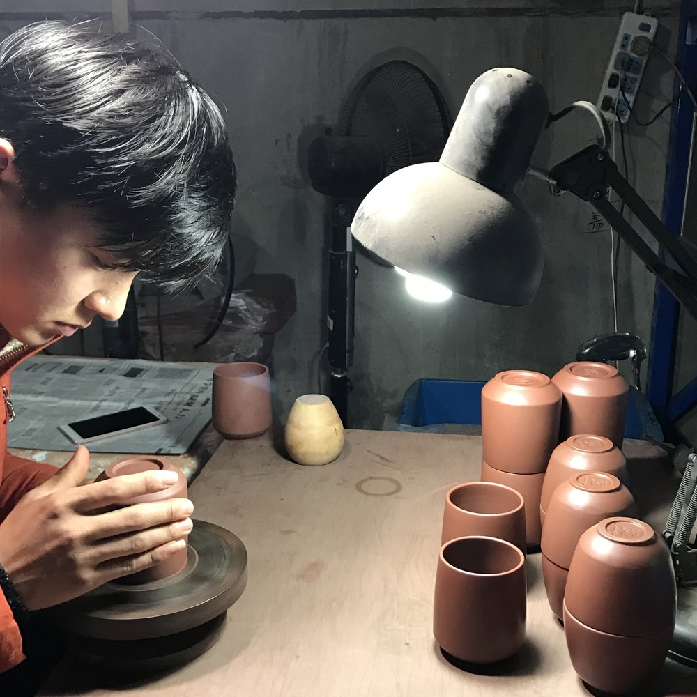 Yixing Ceramics - Photograph of ceramic turning