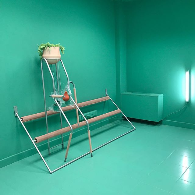 Thank you to @anmichiels and @interieur_be for two days of wonderful Belgian design. My favourite installation comes from the Sint-Maarten hospital where a series of rooms are given over to emerging artists for the duration of the show.