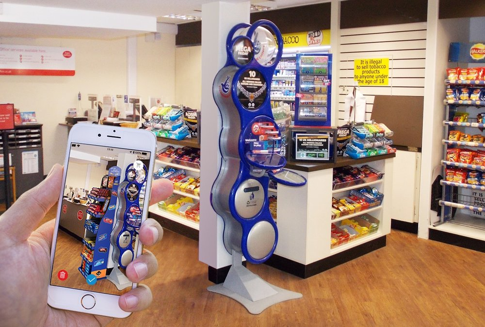 Our  Augmented Reality  app for newsagents could be used in plenty of other industries.