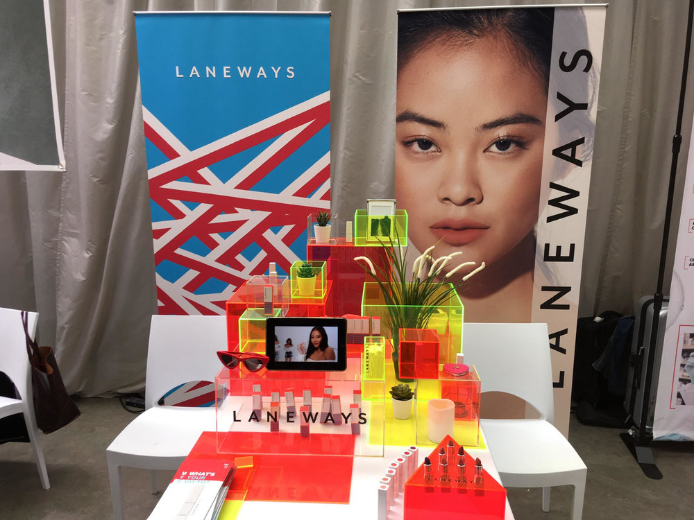 Laneways ' colourful stall set them apart from the crowd. It was their first time in the UK, so they definitely made a splash.