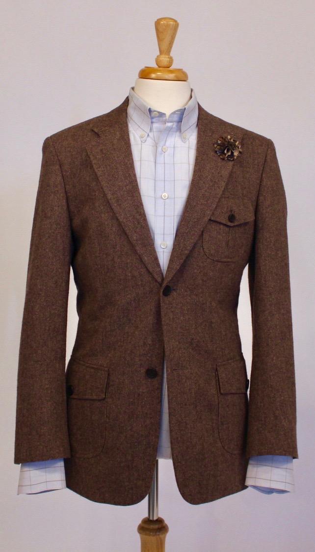 Salvatore Ferragamo Shirt with Perry Ellis Sport Coat -
