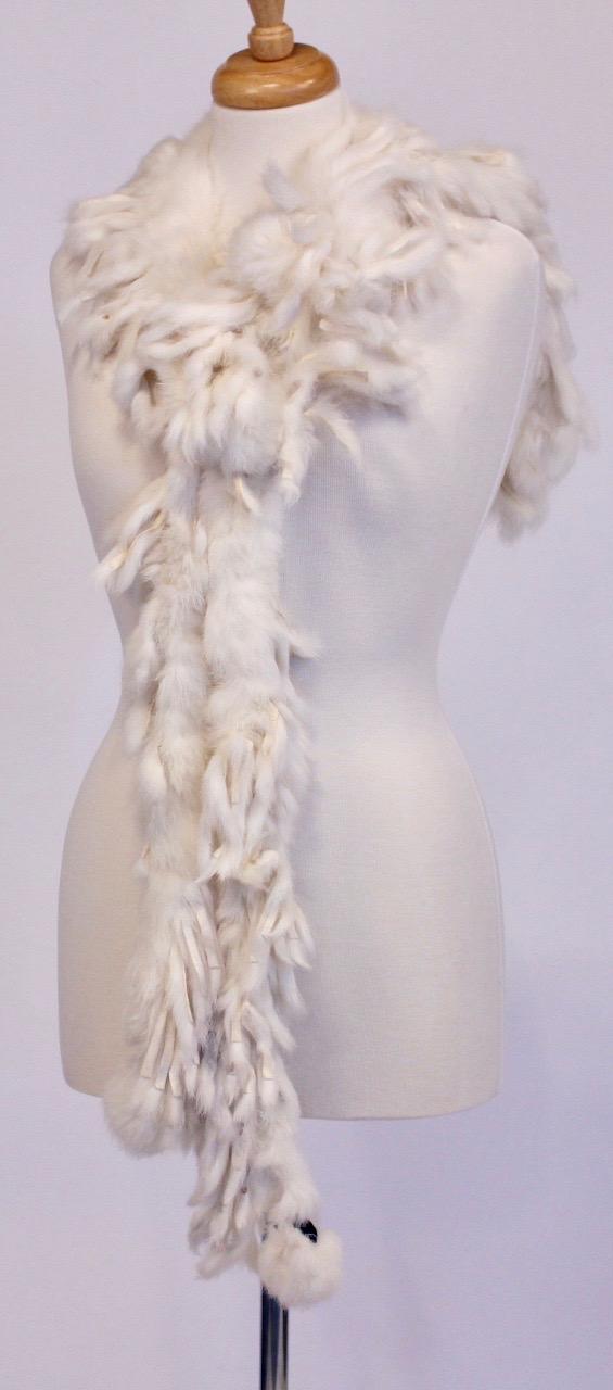 100% Rabbit Fur Scarf -