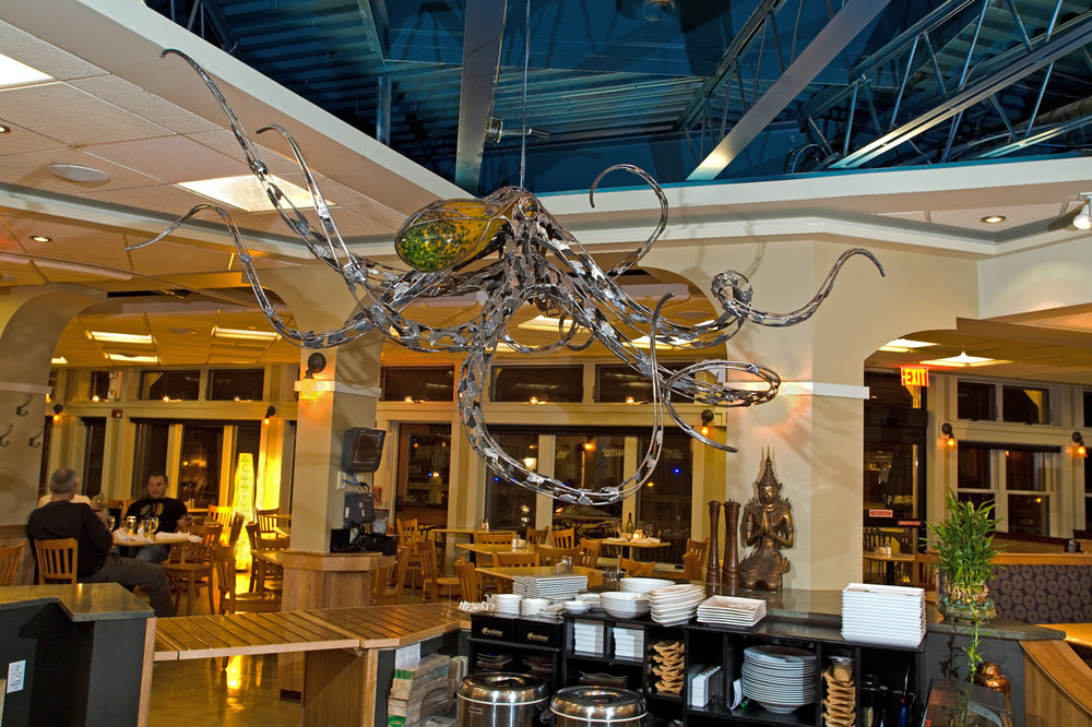Octopus Sculpture by Chris Williams Latitude 43 Restaurant