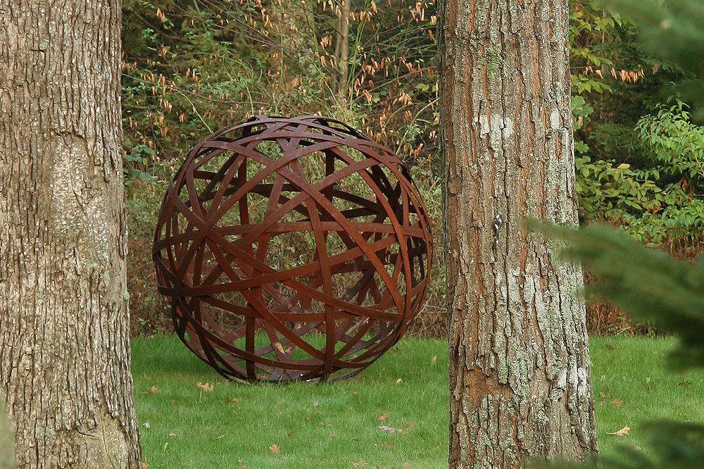 Garden sphere Chris Williams sculpture