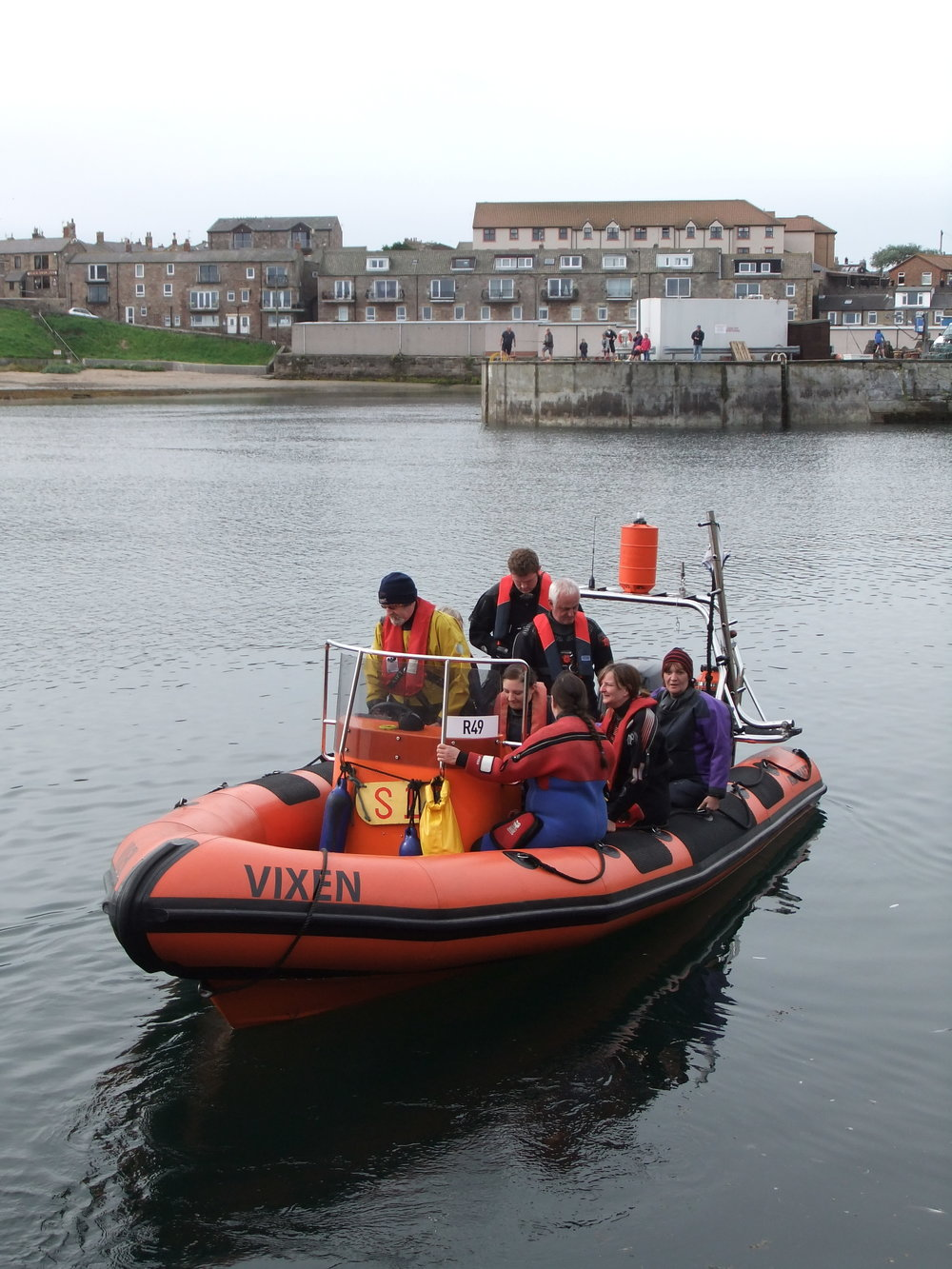 LUEC's rigid inflatable boat.