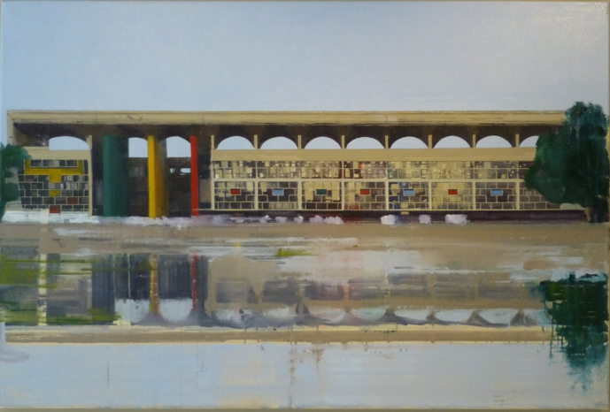 Le Corbusier Chandigarh Five  105 x 70cm  Private Collection