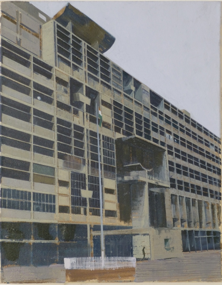 Le Corbusier Chandigarh Six  41 x 51cm oil on canvas