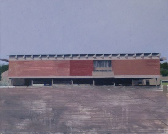 Le Corbusier Chandigarh One  51 x 41cm oil on canvas  Private Collection