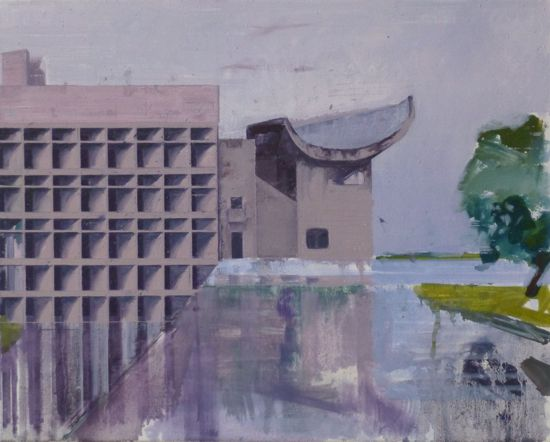 Le Corbusier Chandigarh Two  51 x 41cm oil on canvas  Private Collection
