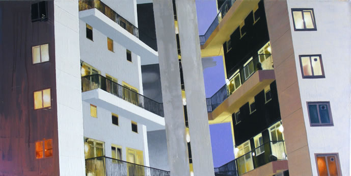Lasdun One  102 x 51cm oil on canvas
