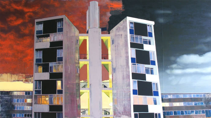 Lasdun Two  125 x 70cm oil on canvas