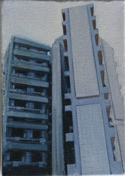 Lasdun - Study 1  18 x 12cm oil on canvas