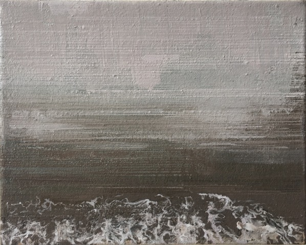 North Sea Melancholia three  25 x 20cm oil on canvas