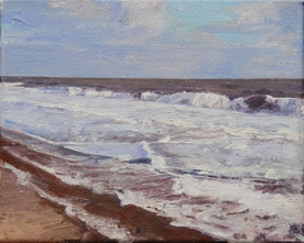 North Sea study 15  25 x 20cm oil on canvas  Private Collection