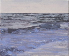 North Sea study 20  25 x 20cm oil on canvas