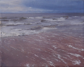 North Sea study 19  25 x 20cm oil on canvas