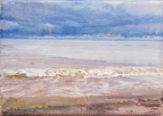 North Sea study 11  18 x 12cm