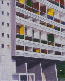 La Cité Radieuse of Le Corbusier, Study 1  20 x 25cm oil on canvas  Private Collection