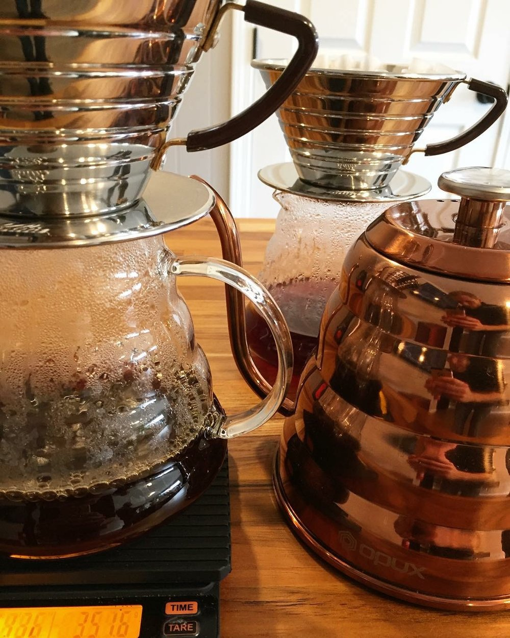 Try our pour overs to experience the tasting notes on our freshly roasted coffee beans from Narrative Coffee Roasters.