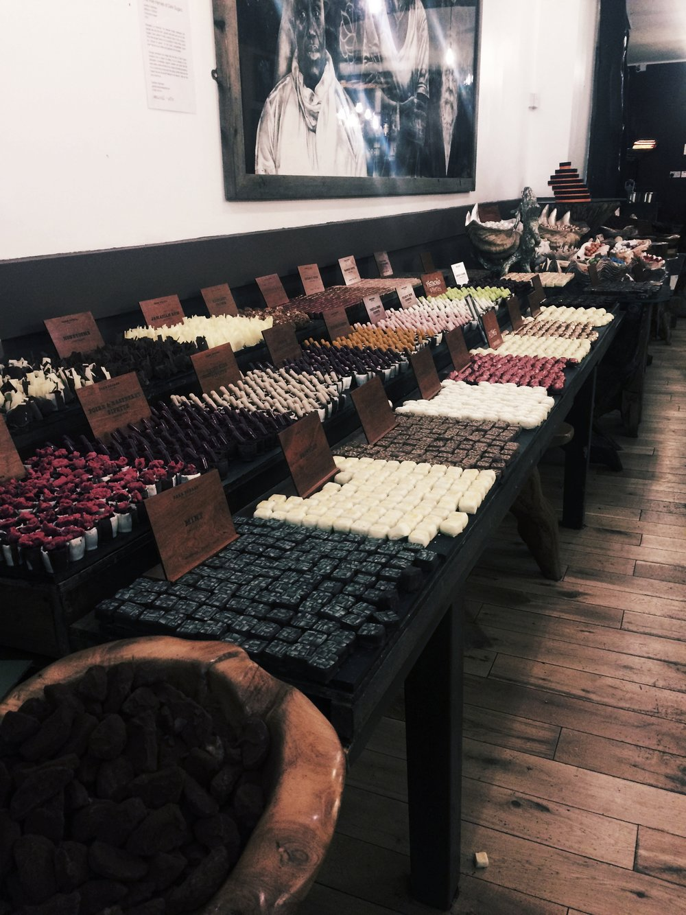 Another jewel of Brick Lane, 'Dark Sugars' cocoa house… it's the ultimate heaven (or hell) for a chocolate lover.