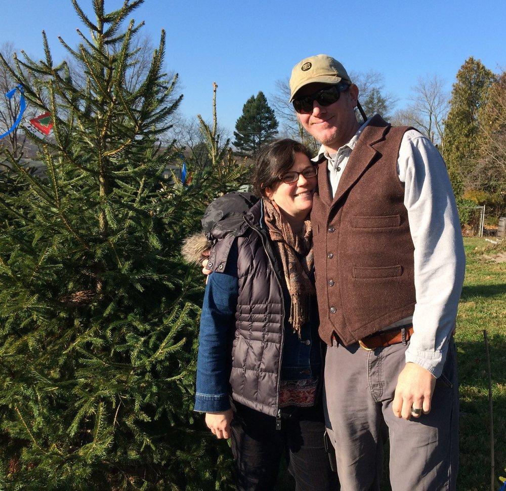 Jennifer Brodsky and her husband, Eric Theesfeld