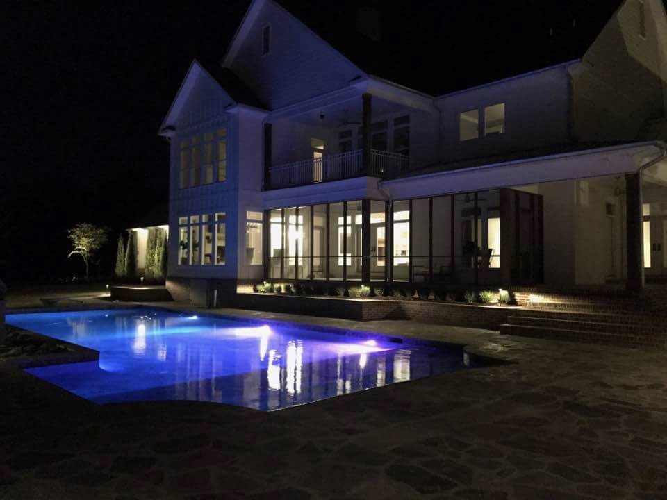 Landscape Lighting - Installing premium quality LED landscape lighting by FX Luminaire featuring over 30,000 colors of zoning and dimming capable fixtures, all from your smartphone device.
