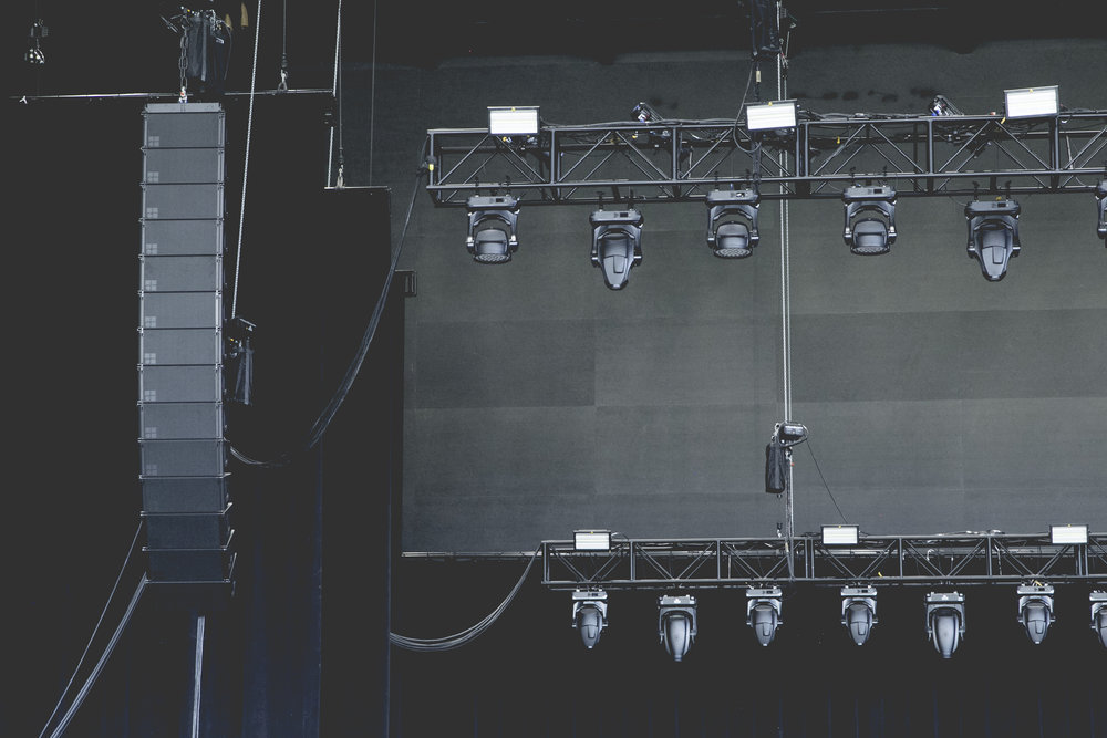 Toyota Music Factory Lighting Rigging Line Array