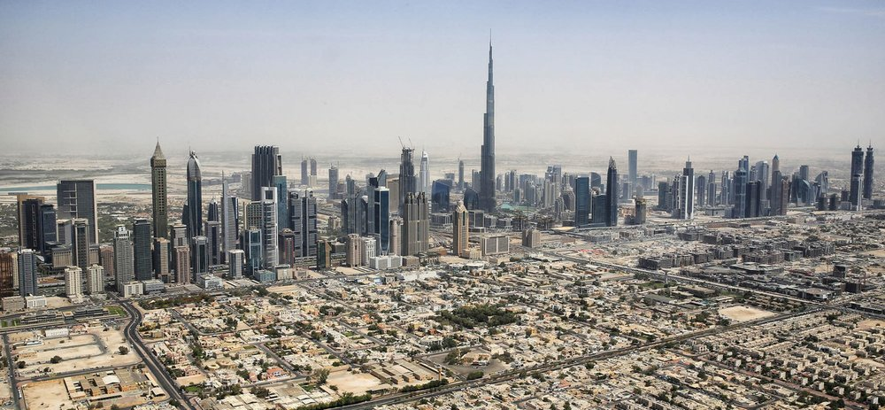 Photo:    Dubai Skyline by    Tim.Reckmann    – Own work,    CC BY-SA 3.0   ,    Link