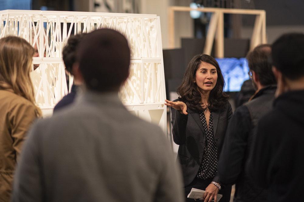 Mania Aghaei Meibodi at swissnex San Francisco. Photo Astra Brinkmann.