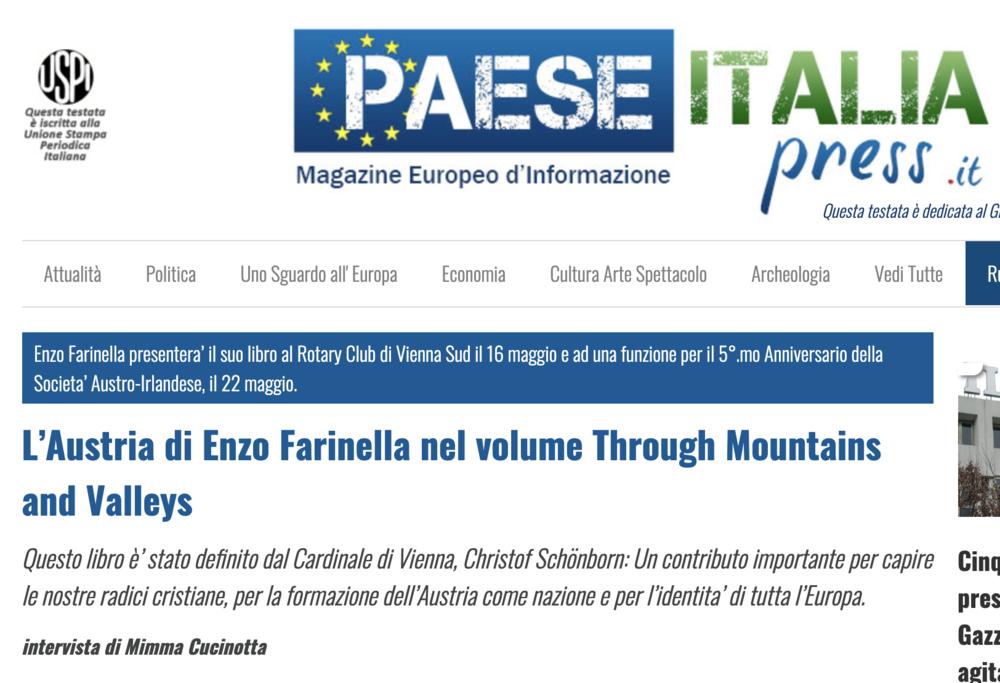 L'Austria di Enzo Farinella nel volume Through Mountains and Valleys