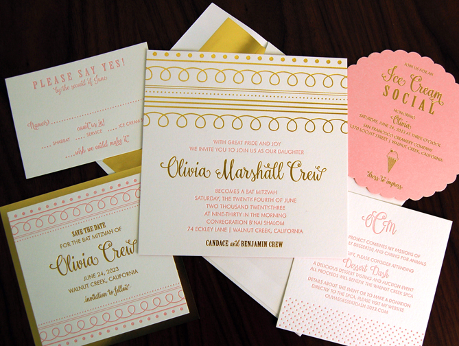 Houston Bat Mitzvah Invitations