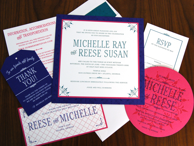 Custom Bat Mitzvah Invitations