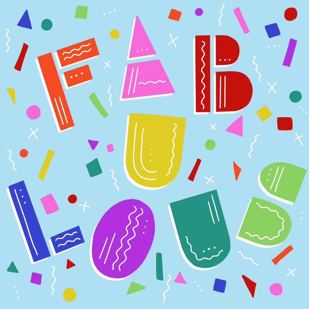 Fabulous Lettering Piece