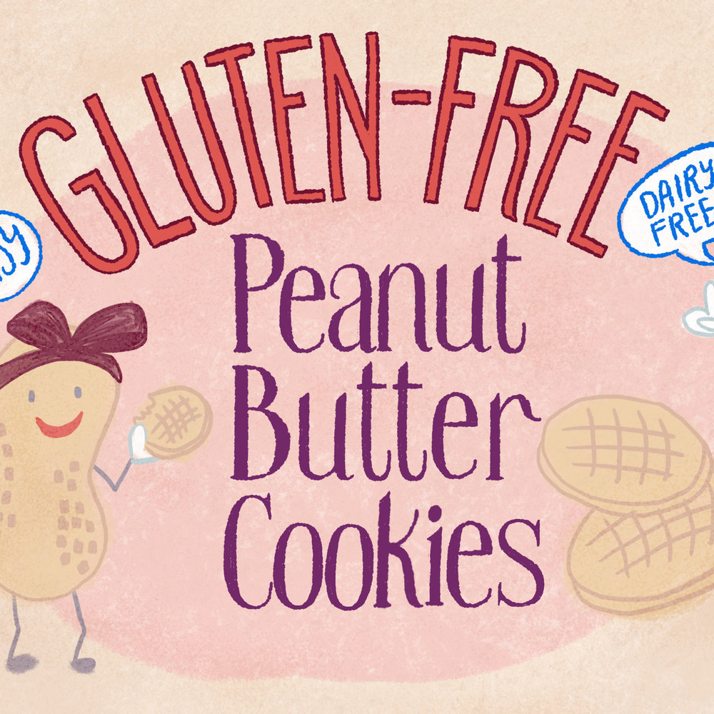 Peanut Butter Cookie Recipe Illustration